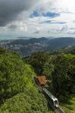 Tramwaj przy Penang wzgórzem Zdjęcie Stock