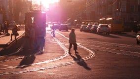 Tramwaj w świetle słonecznym w Odessa Zdjęcia Royalty Free
