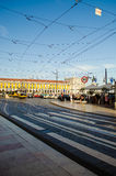Tramwaj w Baixa; Lisbon, Portugalia Obraz Royalty Free