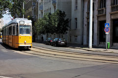 Tramwaj w Budapest Węgry Zdjęcie Stock