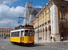 Tramwaj w centrum miasta Lisbon Zdjęcie Stock