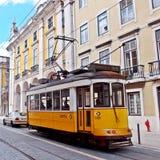 Tramwaj w centrum miasta Lisbon Obraz Royalty Free