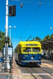 Tramwaj w San Fransisco, Kalifornia Obrazy Royalty Free