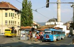 Tramwaj w Sarajevo Bośnia, Herzegovina, - Obraz Royalty Free