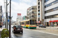 Tramwaj w Toyama mieście Japonia Obrazy Royalty Free