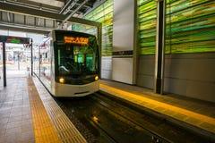 Tramwaj w Toyama staci w Japonia Fotografia Royalty Free
