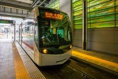 Tramwaj w Toyama staci w Japonia Zdjęcia Royalty Free