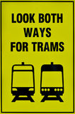 Tramwajarski tramwajowy systemu znak Zdjęcie Royalty Free