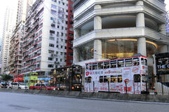 Tramwaje w Hong Kong Zdjęcie Stock