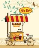 Tramwaju koło dla fasta food Zdjęcie Royalty Free