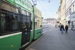 Tramway à Bâle, Suisse Photographie stock