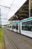 Tramway à Barcelone Photo libre de droits