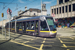 Tramway à Dublin Photos libres de droits