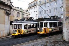 Tramway à Lisbonne Image libre de droits
