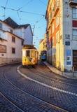Tramway à Lisbonne Images libres de droits
