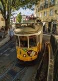 Tramway à Lisbonne Photo stock