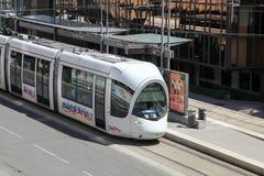 Tramway à Lyon, France Image libre de droits