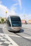 Tramway à Nice Photographie stock libre de droits