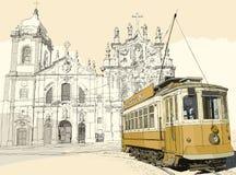 Tramway à Porto Photos stock
