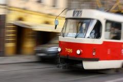 Tramway à Prague Photos libres de droits