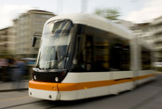 Tramway. A tramway in the city center of Eskisehir Turkey. Image is obtained by panning method Stock Images