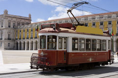 Tramway. Portugal - Old touristic tramway in Lisbon Royalty Free Stock Images