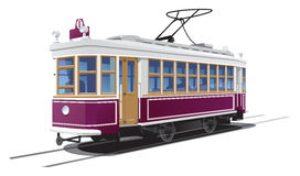 Tramway. Illustration tram. (Simple gradients only - no gradient mesh Royalty Free Stock Photos