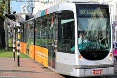 Tramway au centre de la ville Rotterdam, Pays-Bas Image libre de droits