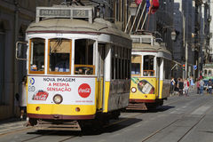 Tramway in Baixa Royalty Free Stock Image