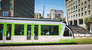 Tramway in Bilbao, Spain Royalty Free Stock Image