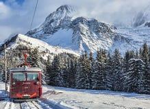 tramway blanc du mont стоковая фотография