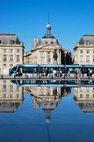 The tramway in Bordeaux. Tourism in Bordeaux in France stock photography