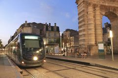 Tramway in Bordeaux Royalty Free Stock Photos