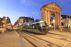 Tramway in Bordeaux Stock Photography