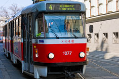 Tramway in Brno Stock Image