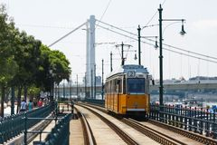 Tramway in Budapest Royalty Free Stock Image