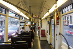 Tramway car interior Stock Photography