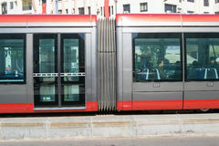 Tramway in Casablanca close up royalty free stock photos