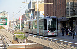 Tramway in the centre of the city Rotterdam, Netherlands stock photos