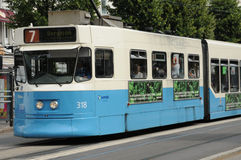 tramway in the city of Goteborg Royalty Free Stock Photography