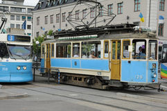 Tramway in the city of Goteborg Royalty Free Stock Photos