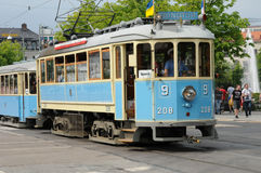 Tramway in the city of Goteborg Royalty Free Stock Photo