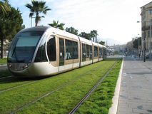Tramway in city of Nice Royalty Free Stock Photography