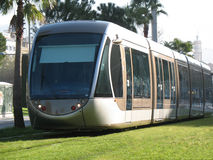 Tramway in city of Nice stock image