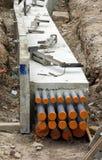 Tramway dans la construction photos stock