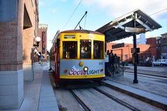 Tramway dans la ville de Ybor Photo stock