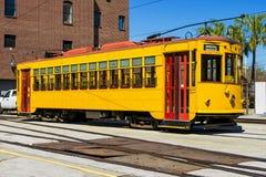 Tramway dans la ville de Ybor photographie stock