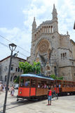 Tramway dans Soller, Majorca Photos stock