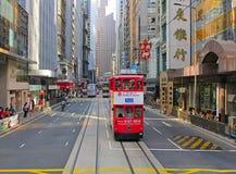 Tramway de Hong Kong photo stock