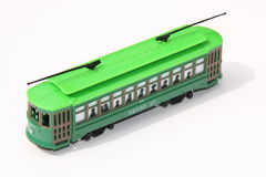 Tramway de jouet Photographie stock